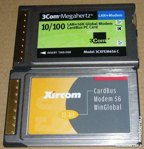 Cardbus modem 56 Xircom PCMCIA Matériel informatique