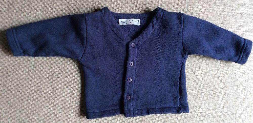 Cardigan / gilet bleu marine - 3 mois Vêtements enfants