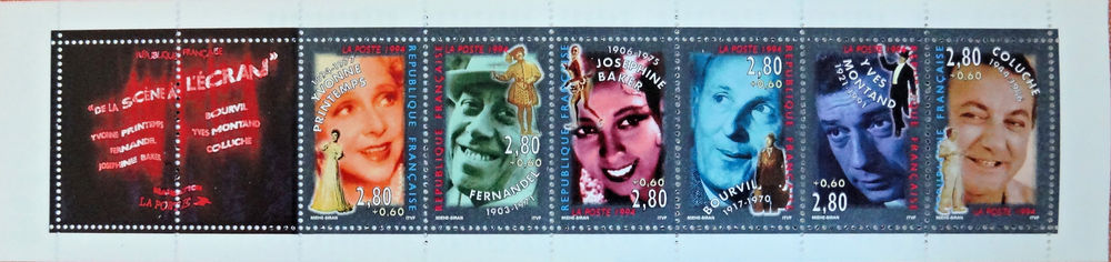 Carnet Personnages célèbres de 1994. N°BC2903 2 Chaumontel (95)