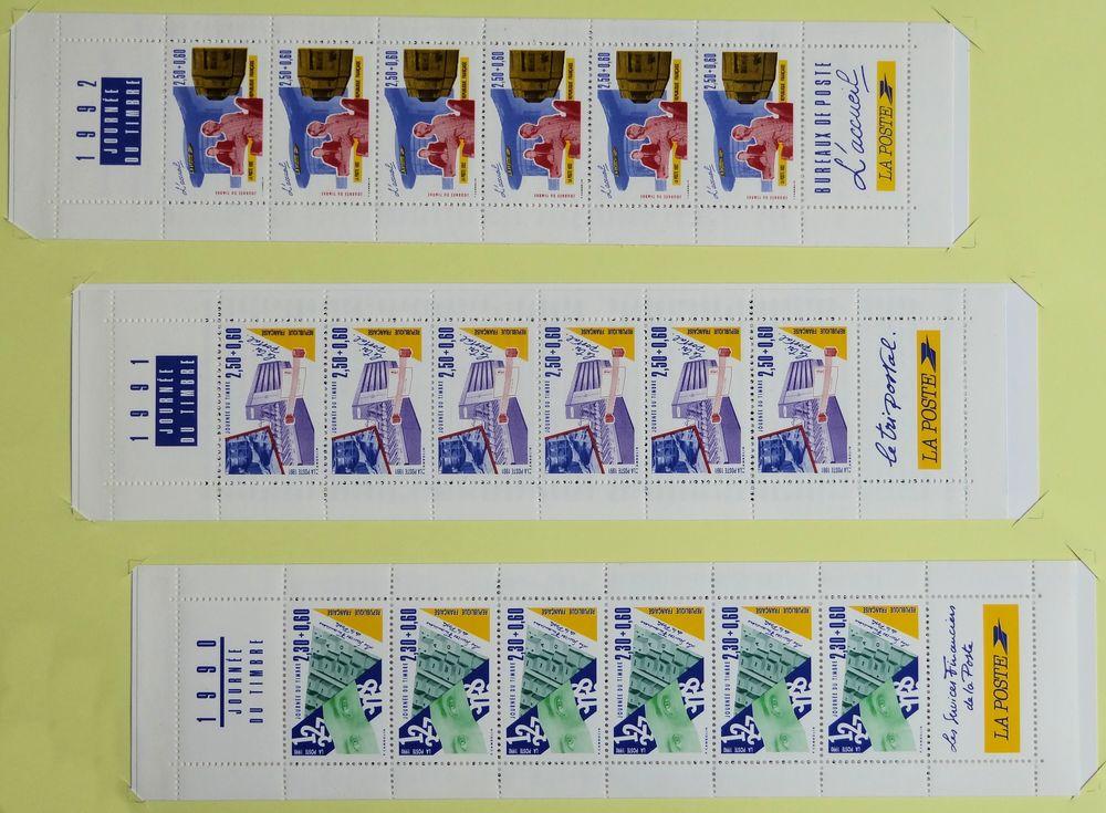 Carnets Journée du timbre... Yvert 2640A  / 2689A / 2744A. 2 Chaumontel (95)