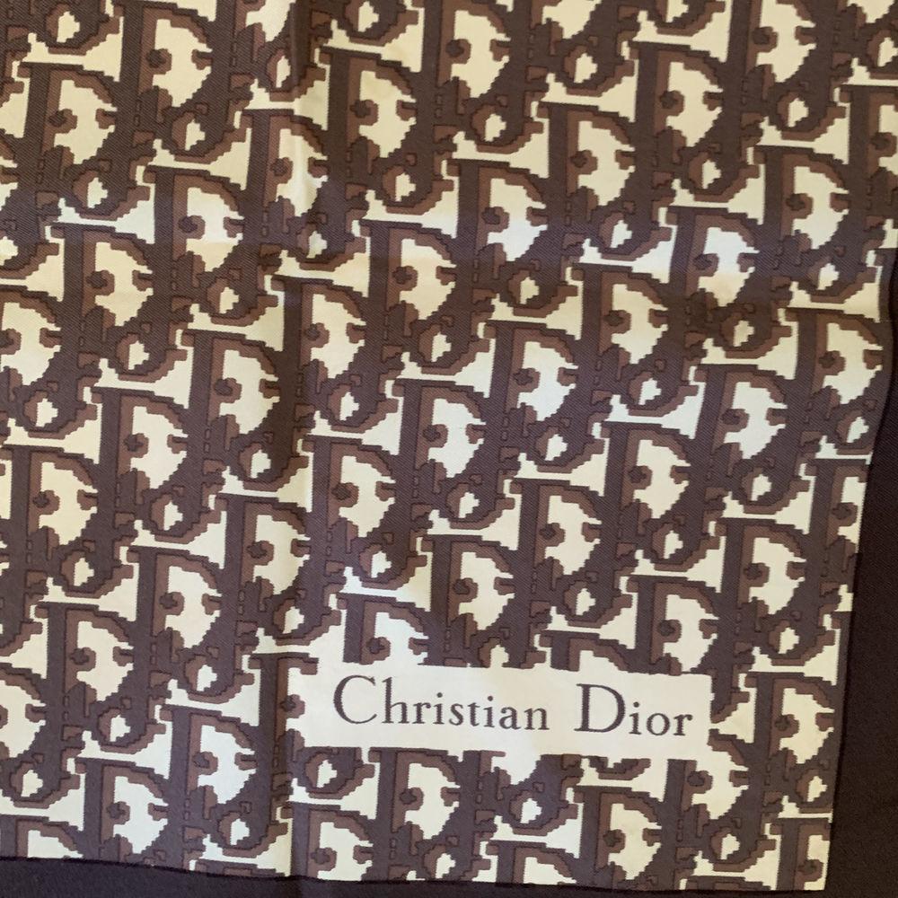 Carre Foulard Christian Dior Marron Tbe Vintage 160 Nice (06)