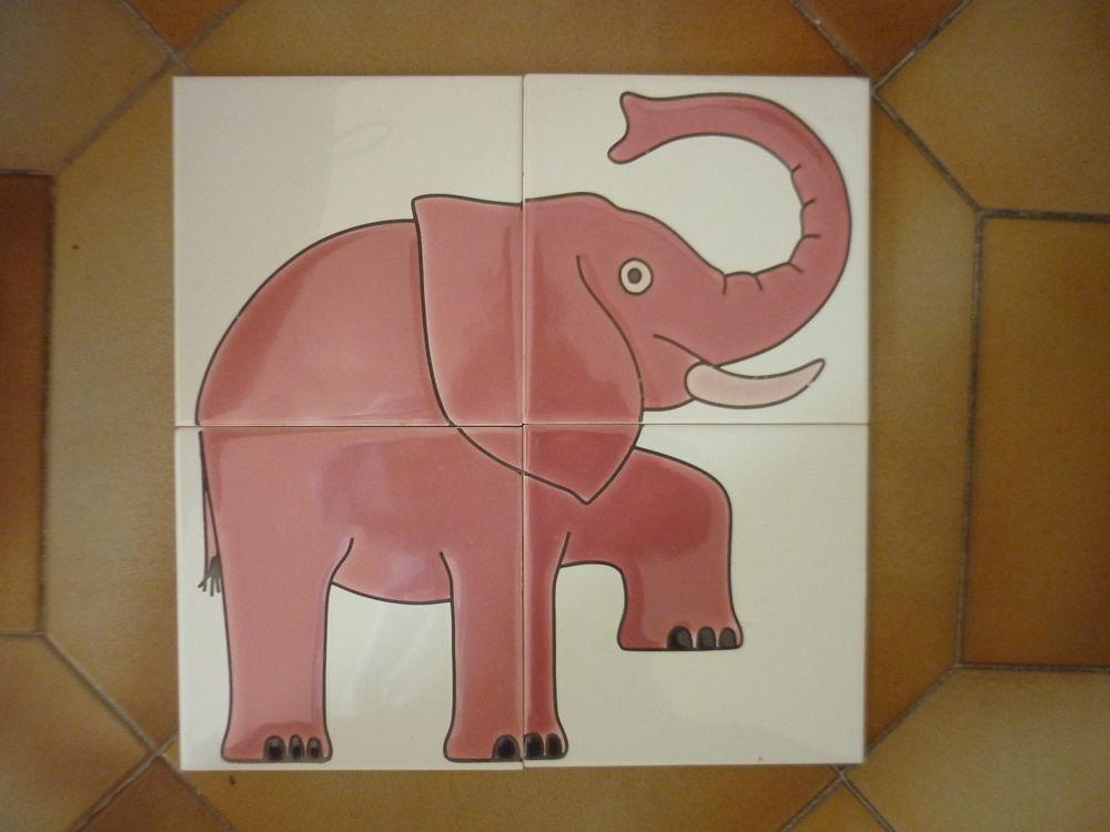 4 carreaux en faïence Villeroy & Boch, ELEPHANT fantaisie 5 Marseille 5 (13)