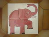 4 carreaux en faïence Villeroy & Boch, ELEPHANT fantaisie 4 Marseille 5 (13)
