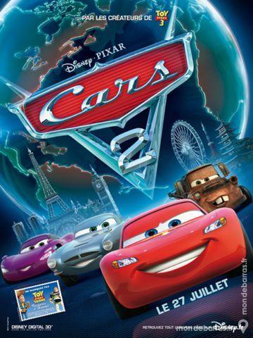 CARS 2 - Véritable Affiche de Cinéma Disney  50 Maisons-Alfort (94)