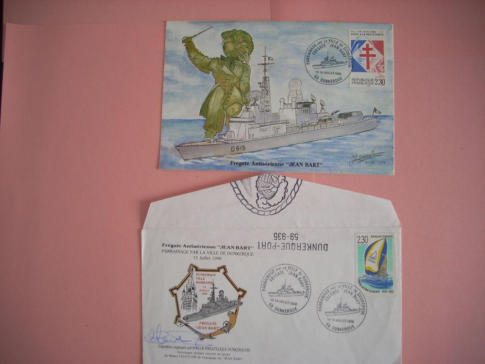 Carte   enveloppe philatéliques Frégate 8 Issou (78)