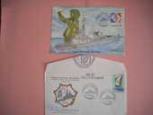 Carte + enveloppe philatéliques Frégate 8 Issou (78)