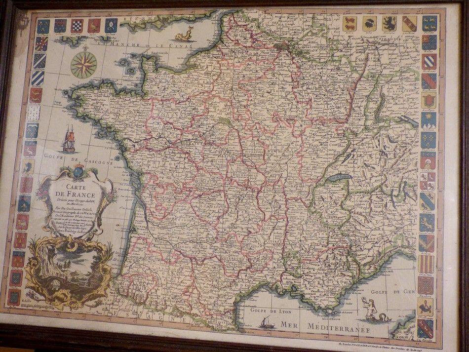 Carte de FRANCE de 1721 1 Agny (62)