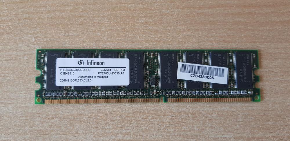 Carte mémoire pour PC Infineon 32Mx64 256MB SDRAM DDR PC 10 Carnon Plage (34)