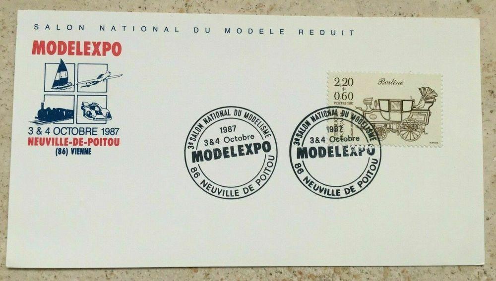 CARTE MODELEXPO NEUVILLE-DE-POITOU 3 et 4 Octobre 1987  4 Blaye (33)