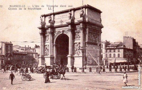 Carte postale 1900 Marseille arc de triomphe 4 Aubenas (07)