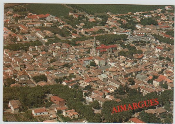 Carte Postale Ancienne Aimargues (Gard) 2 Mèze (34)