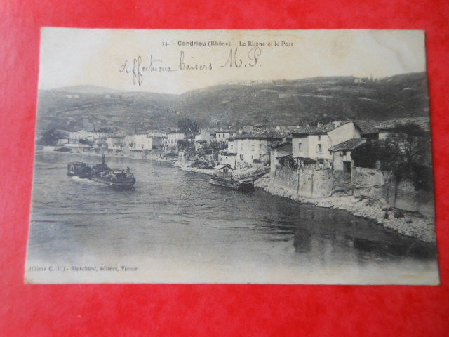 carte postale ancienne Condrieu CPA 6 5 Grézieu-la-Varenne (69)