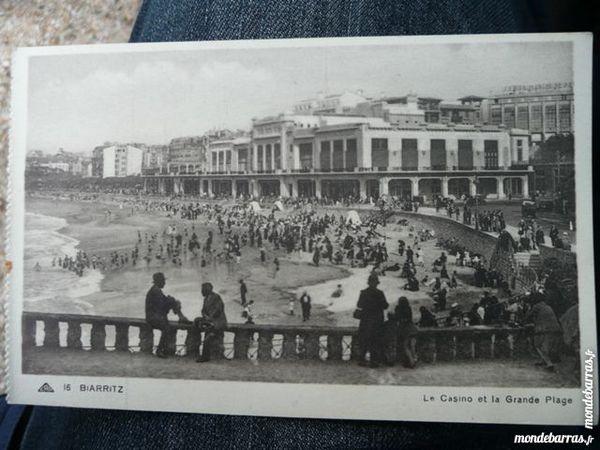 Carte postale Biarritz Le Casino et grande plage