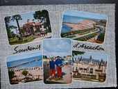 Carte postale couleur Arcachon 33 année 1962 1 Bordeaux (33)