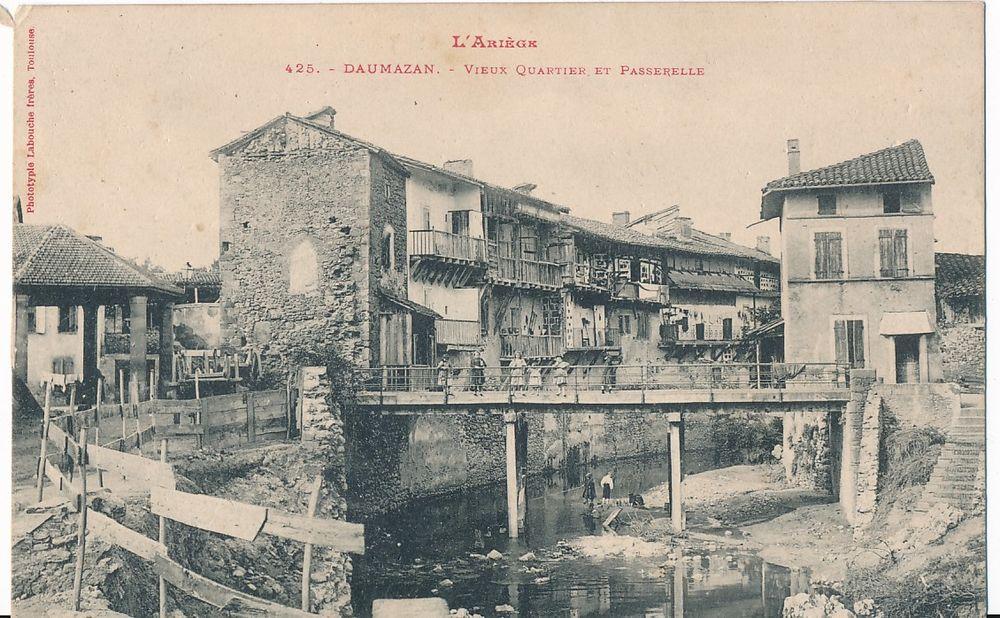 Carte Postale DAUMAZAN. Vieux Quartier et Passerelle 6 Daumazan-sur-Arize (09)