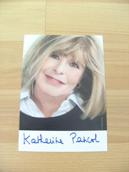 Carte postale dédicacée Katherine Pancol (Neuve) 8 Ardoix (07)