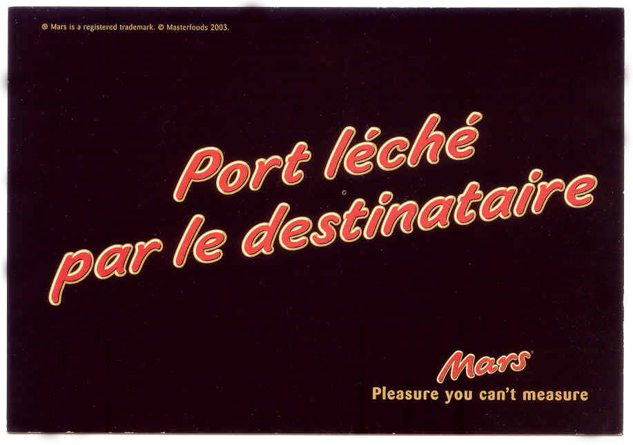 Carte postale Mars 50cts 0 Lille (59)