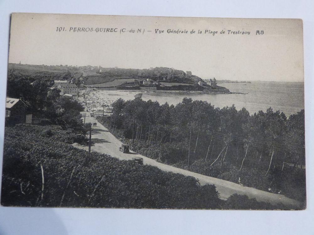 CARTE POSTALE PERROS GUIREC VUE GENERALE DE LA PLAGE  4 Brest (29)