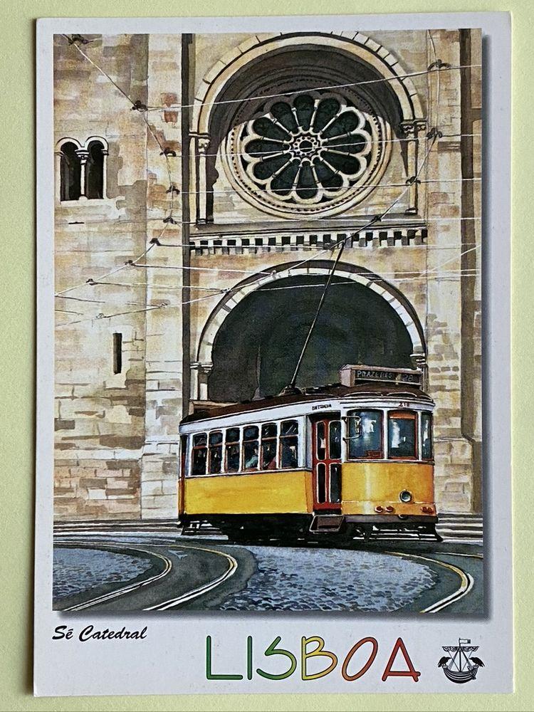 Carte Postale Tramway Sé Catedral_Aquarelle de LISBOA N°534 3 Joué-lès-Tours (37)
