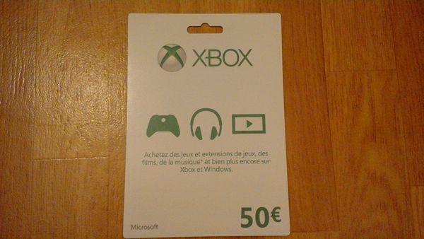 Carte prépayé Xbox One et 360 Consoles et jeux vidéos