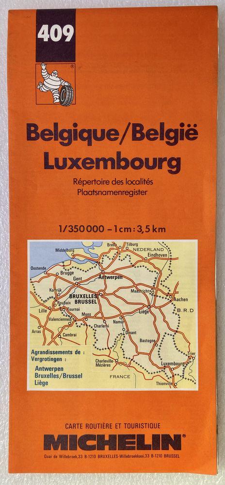 Carte Routière Belgique - Luxembourg N°409 MICHELIN 2 Joué-lès-Tours (37)