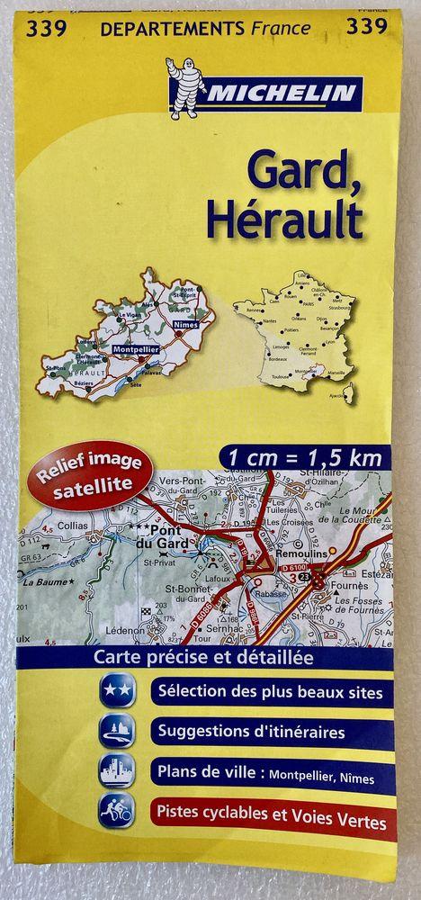 Carte routière départements Gard - Hérault N° 339 Michelin 2 Joué-lès-Tours (37)