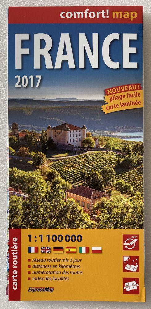 carte routiere FRANCE 2017 (comfort !map, laminée) 10 Joué-lès-Tours (37)
