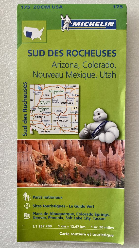 Carte Routière Sud des Rocheuses Arizona Colorado N Mexique  6 Joué-lès-Tours (37)