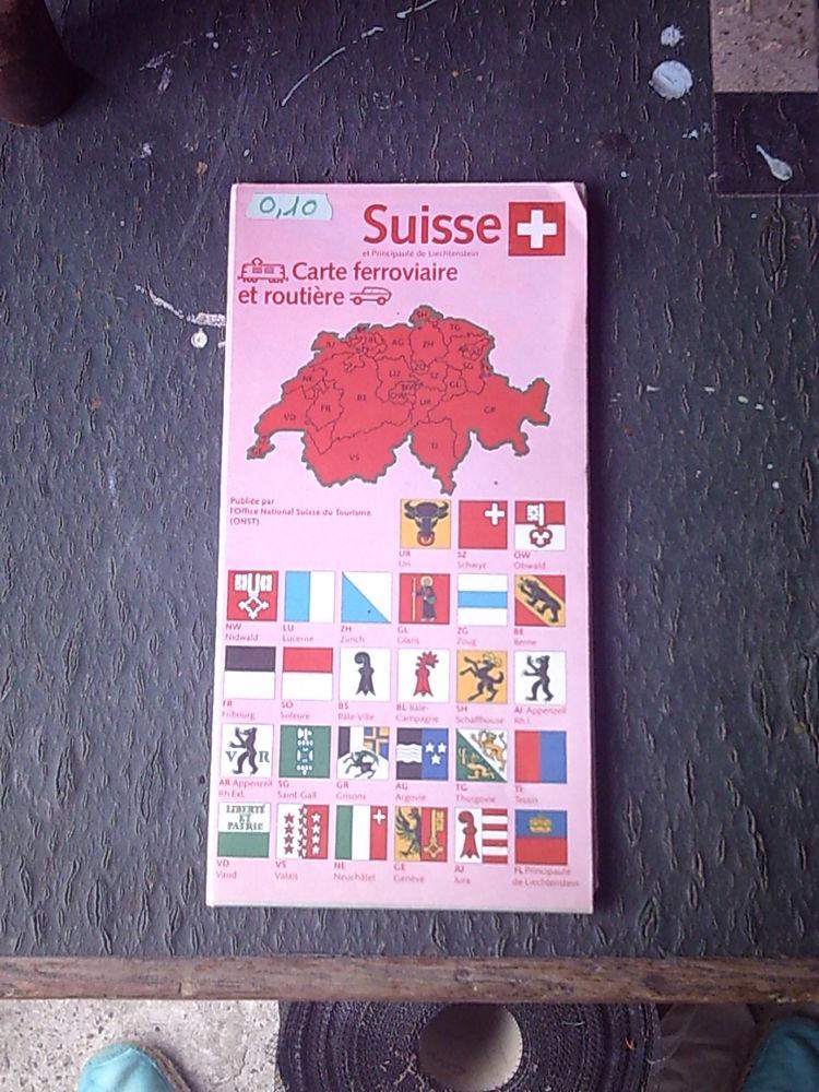 Carte Routière de La SUISSE 1 Bouxwiller (67)