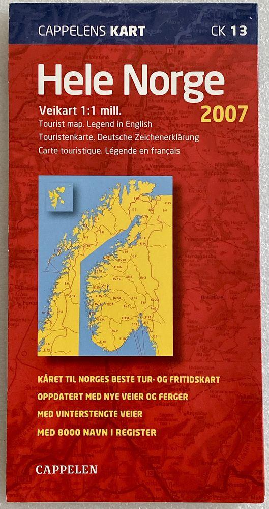 Carte Routière  touristique norvégienne 2007 6 Joué-lès-Tours (37)