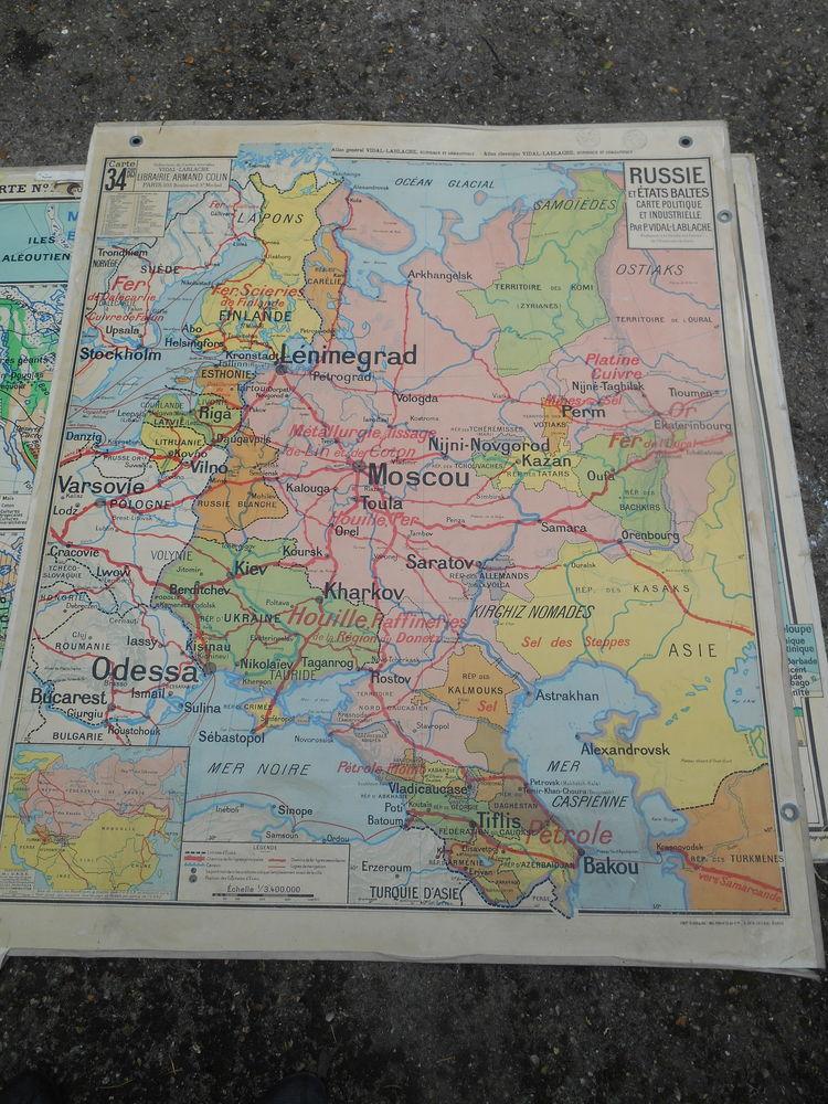 carte scolaire russie 65 Paris 19 (75)