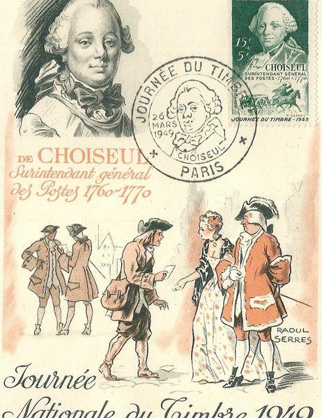 carte souvenir  Journée du Timbre 1949  0 Mulhouse (68)
