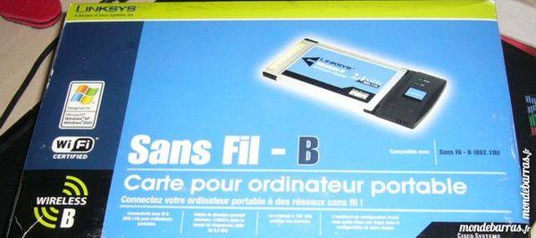 carte WIFI Wireless PCMCIA Lynksys neuve Matériel informatique
