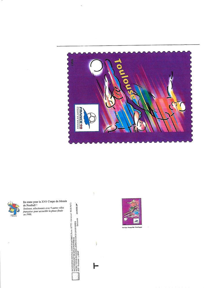 Cartes pré-affranchies FOOTBALL - FRANCE 1998 0 Mulhouse (68)