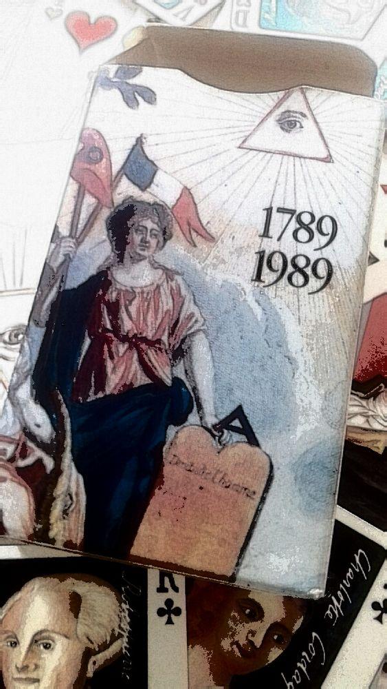 Jeu de 54 cartes bicentenaire de la révolution française. 35 Boulogne-Billancourt (92)