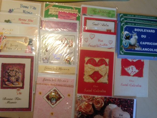 Lot de 19 cartes de fêtes 0 Chelles (77)