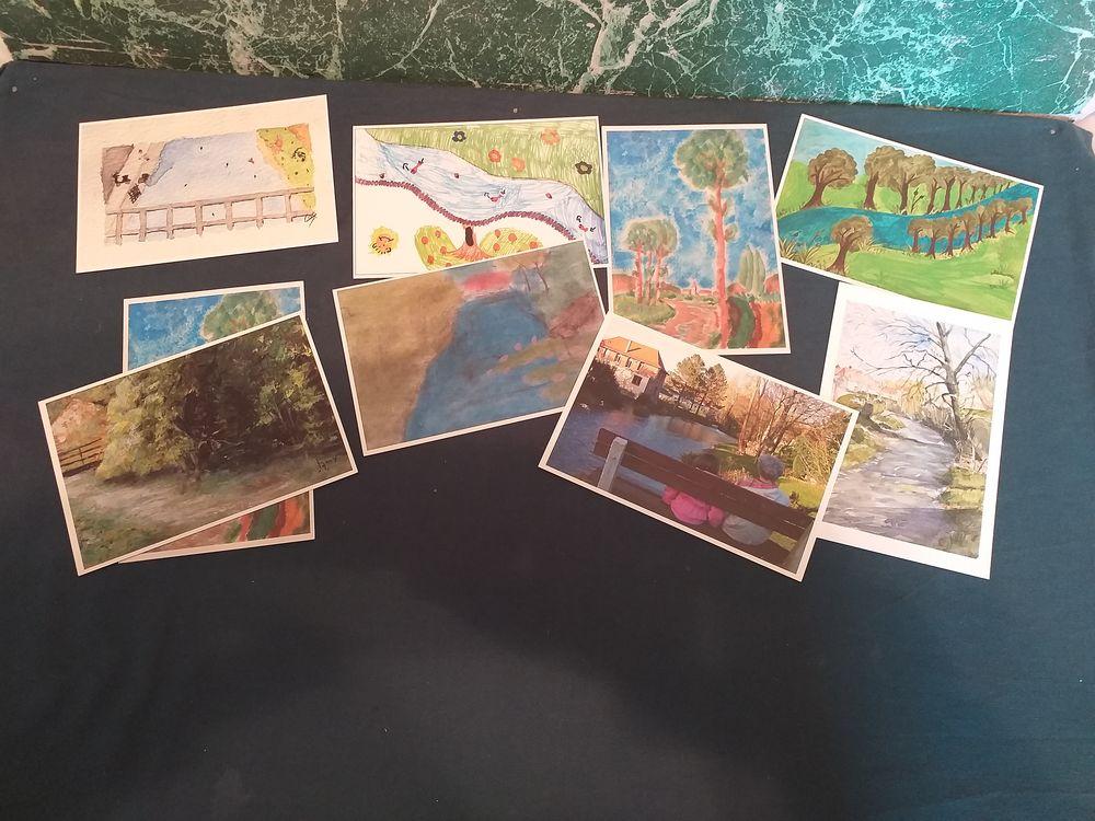 62 ; lot de 9 cartes neuves  concours peinture regarde ma ri 16 Tours (37)