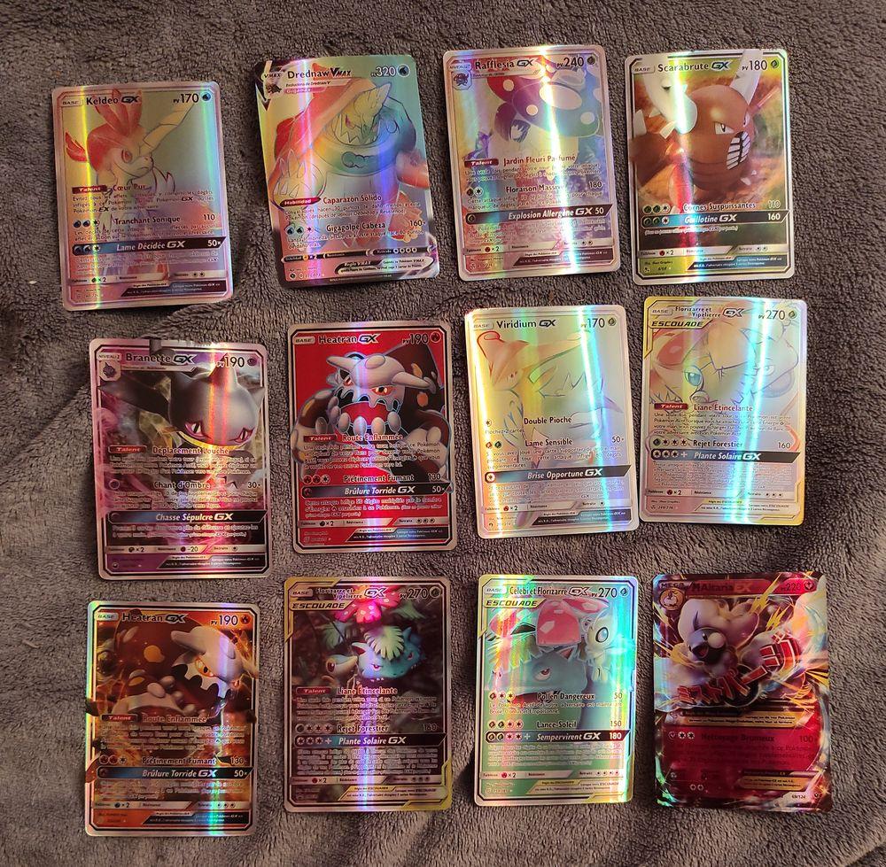 65 cartes Pokémon EN FRANÇAIS V ou VMAX ex et gx et escouade 0 Tourcoing (59)