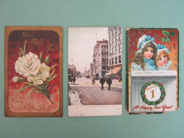 3 CARTES POSTALES ANCIENNES écrites  Américaine  1910 5 Sassenage (38)