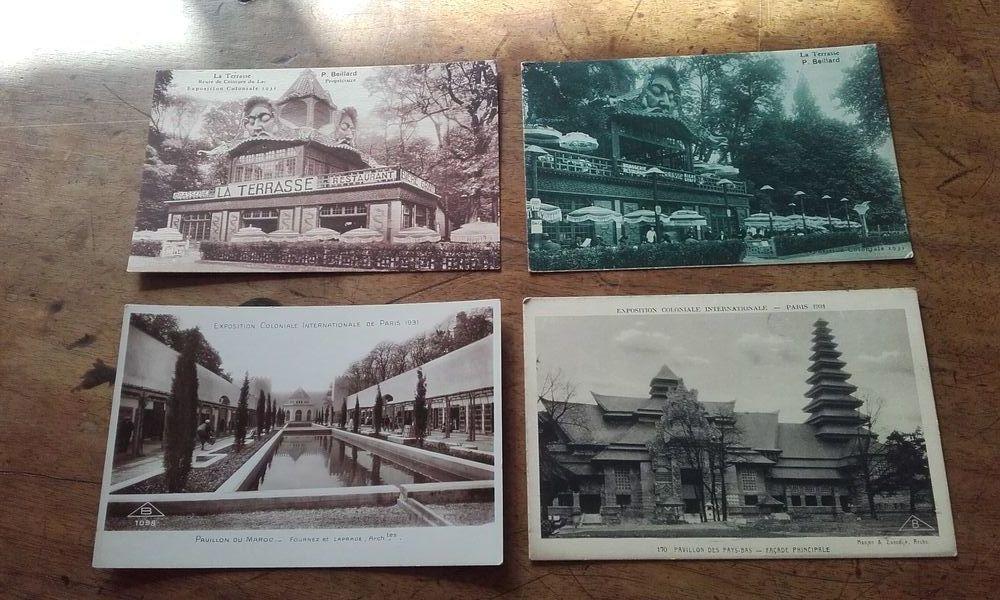 Lot de 4 cartes postales anciennes Exposition Coloniale 1931 8 Saint-Martin-de-la-Brasque (84)