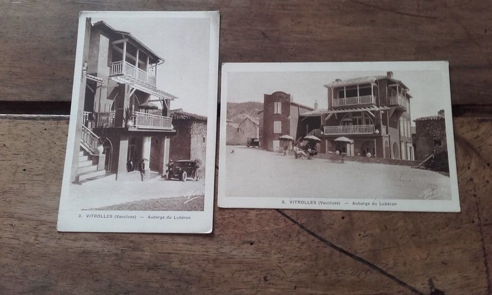 Lot de 2 Cartes postales Anciennes  Vitrolles Vaucluse 4 Saint-Martin-de-la-Brasque (84)