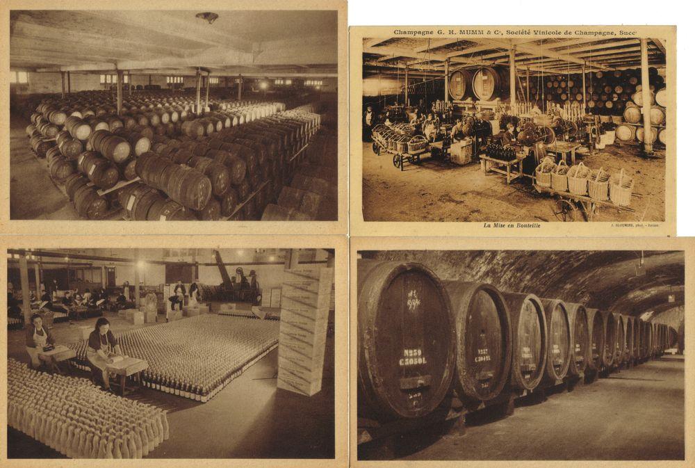 Cartes postales Champagne Mumm. 3 Tinqueux (51)
