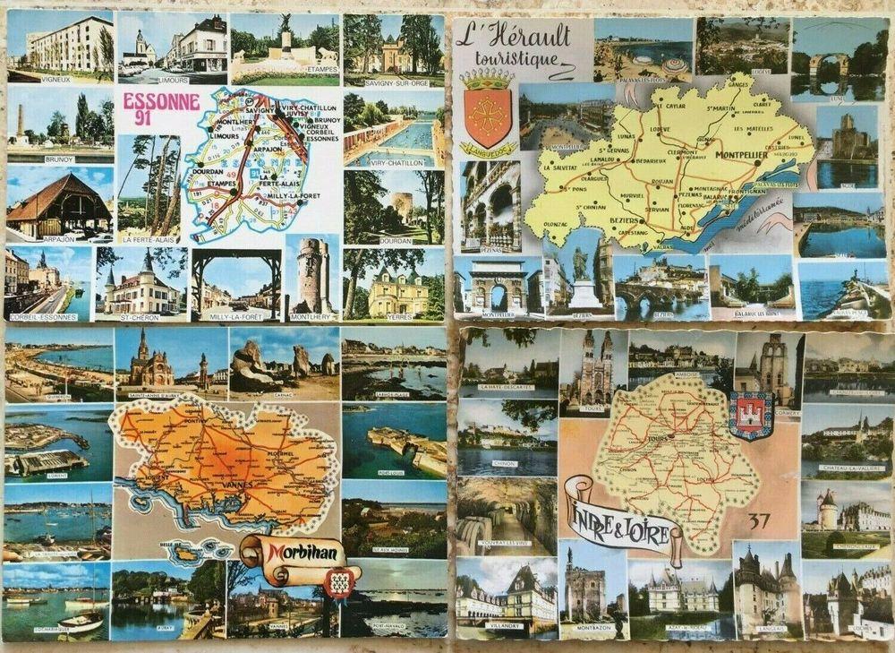 10 CARTES POSTALES géographiques -département + photos 15 Blaye (33)