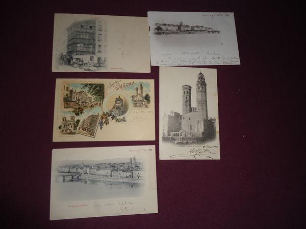 lot de 5 cartes postales MACON 1900 10 Thaon-les-Vosges (88)