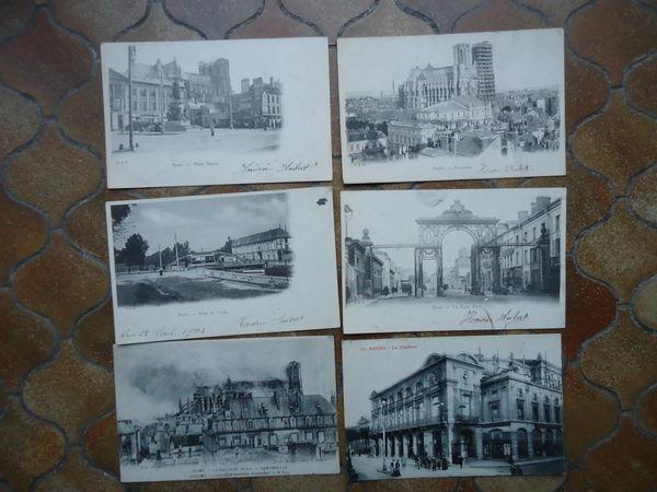 lot de 12 cartes postales REIMS 1902 15 Thaon-les-Vosges (88)