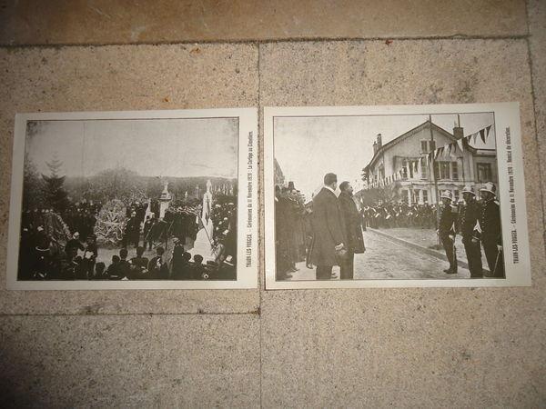 2 cartes postales THAON LES VOSGES 11/11/1920 11 Thaon-les-Vosges (88)