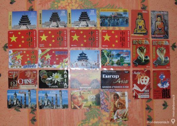 26 cartes téléphoniques prépayées sur Asie