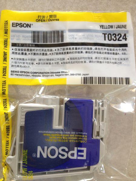1 Cartouche neuve Jet d'Encre d'Origine EPSON T0324 Jaune Matériel informatique
