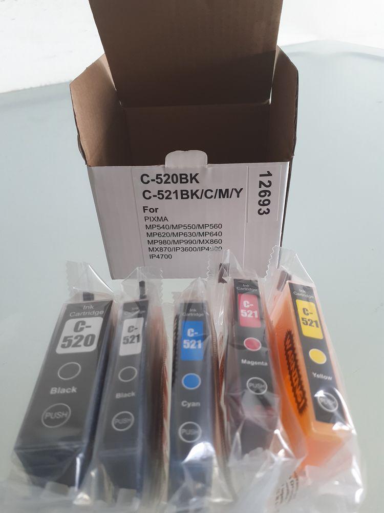 Cartouches Compatible CANON PGI-520 / CLI-521 2 packs Photos/Video/TV