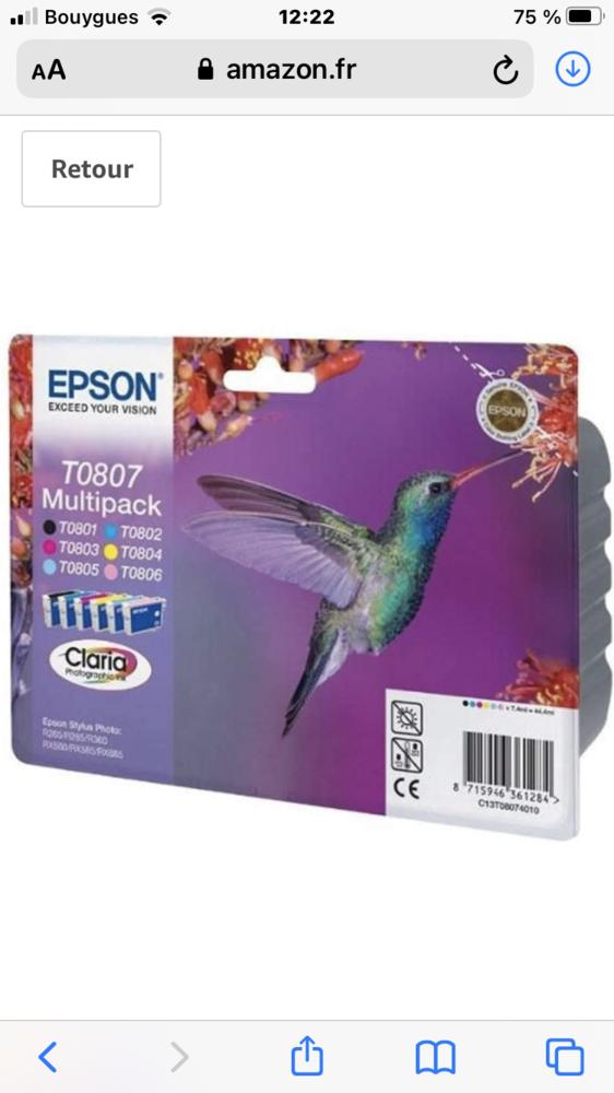 cartouches compatibles avec EPSON Stylus photo PX720 250 Pins-Justaret (31)